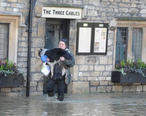Three Gables in the floods