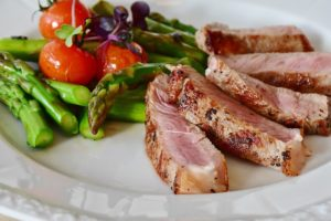 Spring lamb and asparagus